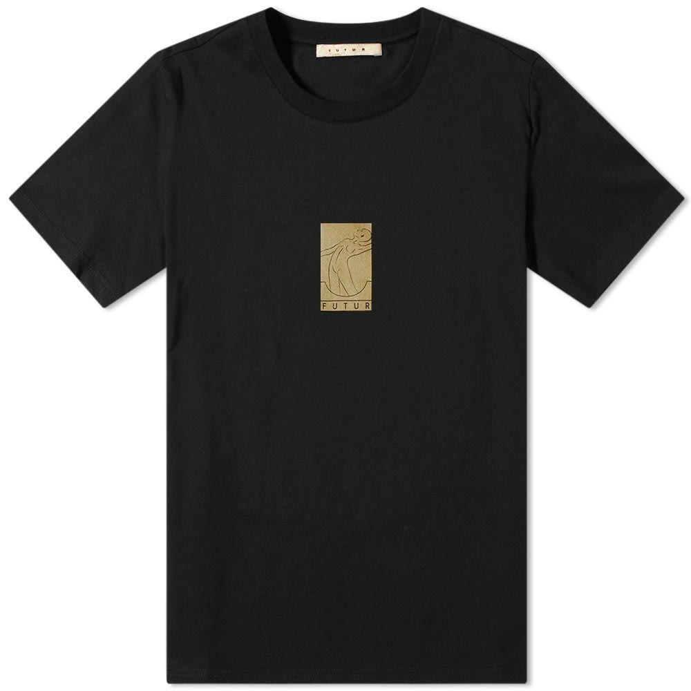 フューチャー Futur メンズ Tシャツ ロゴTシャツ トップス【gold box logo tee】Black