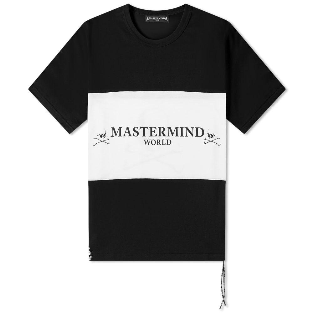 【絶品】 マスターマインド MASTERMIND トップス【colour ロゴTシャツ WORLD メンズ Tシャツ WORLD ロゴTシャツ トップス【colour block logo tee】Black/White:フェルマート, ストラップのBig Brave:9998bf42 --- nagari.or.id
