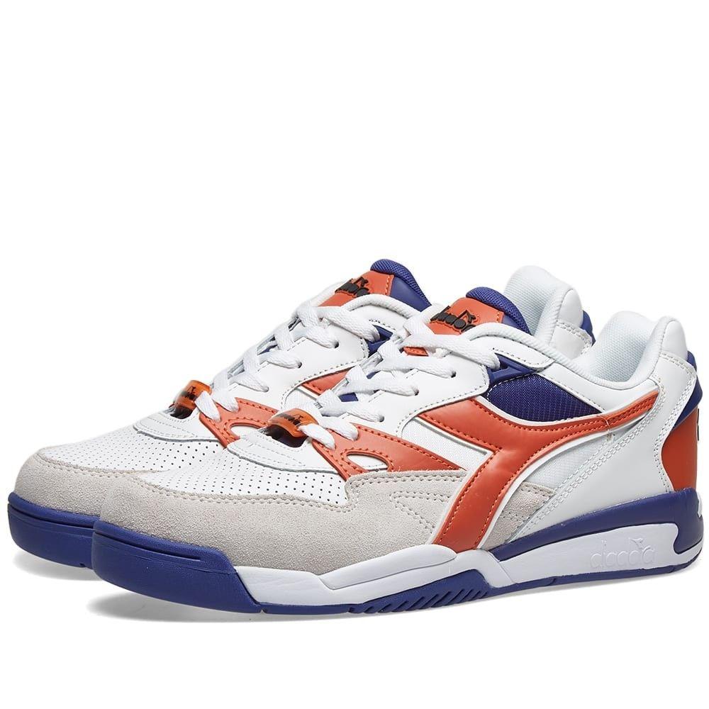 ディアドラ Diadora メンズ スニーカー シューズ・靴【rebound ace beta】White/Burnt Orange