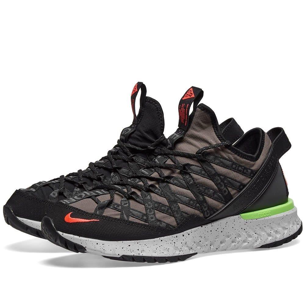 ナイキ Nike メンズ スニーカー シューズ・靴【acg react terra gobe】Ridgerock/Flash Crimson