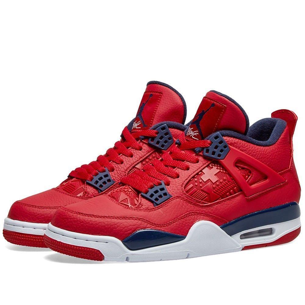 ナイキ ジョーダン Nike Jordan メンズ スニーカー シューズ・靴【air jordan 4 fiba】Red/White