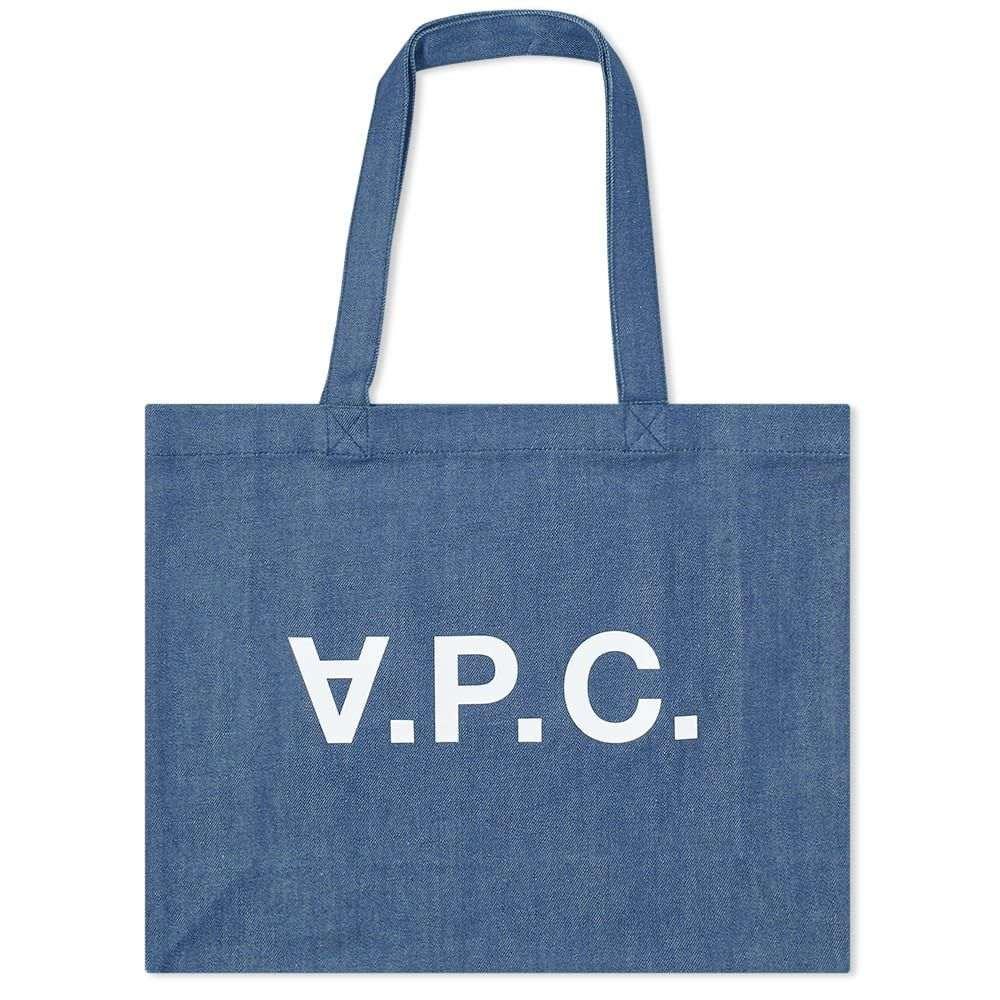 アーペーセー A.P.C. メンズ トートバッグ バッグ【daniel logo tote bag】Washed Indigo