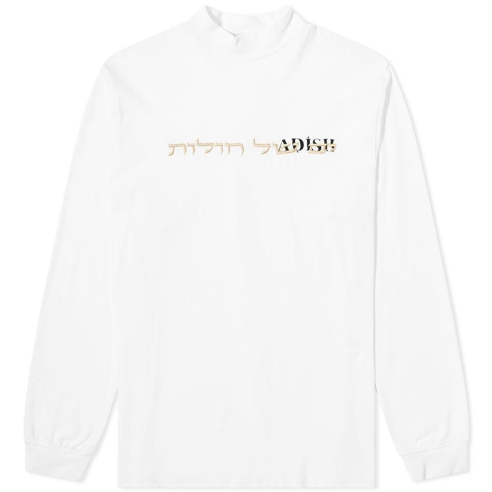 ADISH メンズ 長袖Tシャツ トップス【long sleeve turtleneck hebrew tee】White