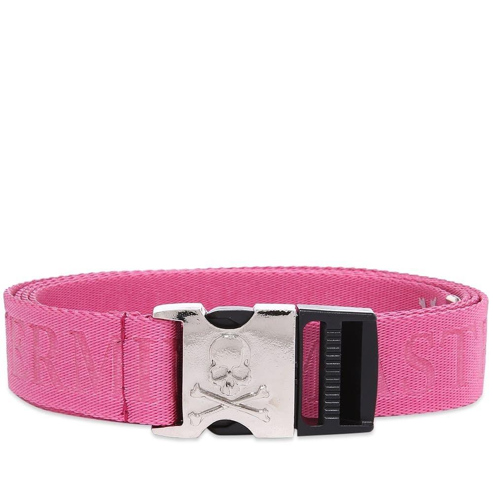 マスターマインド MASTERMIND WORLD メンズ ベルト 【webbed logo belt】Pink