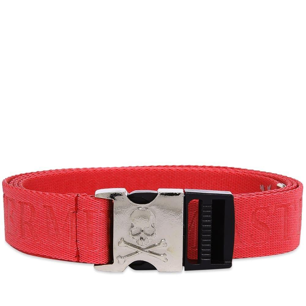 マスターマインド MASTERMIND WORLD メンズ ベルト 【webbed logo belt】Red