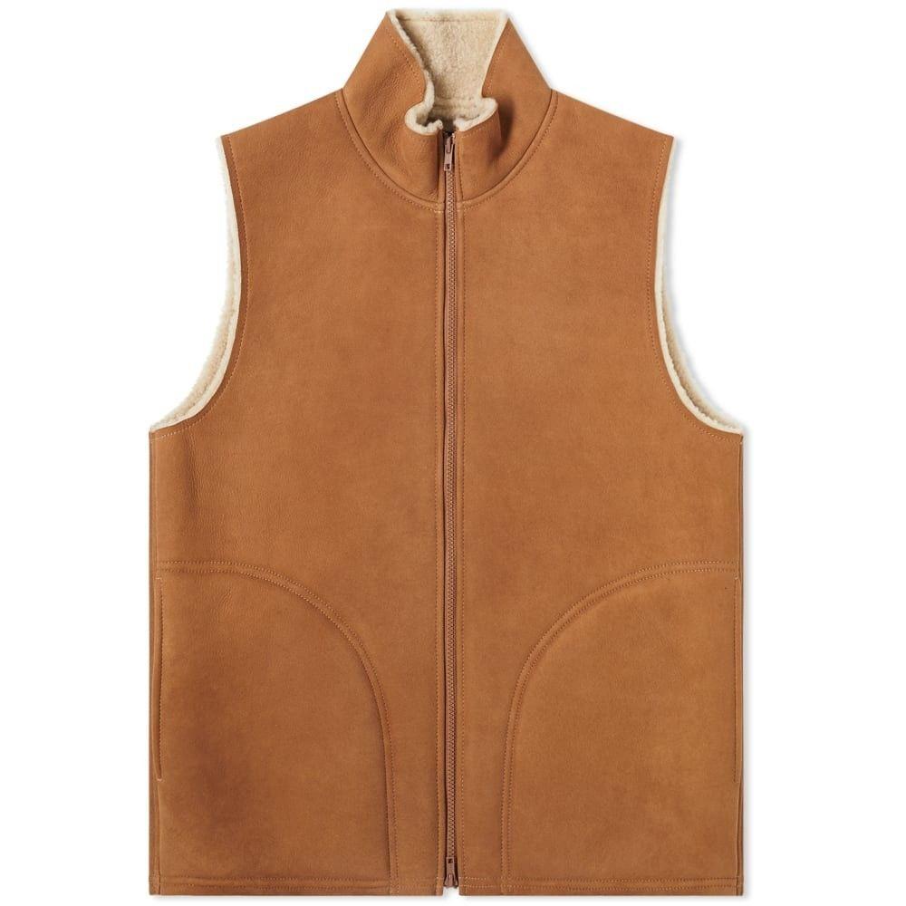 ビームス プラス Beams Plus メンズ ベスト・ジレ トップス【mouton vest】Brown
