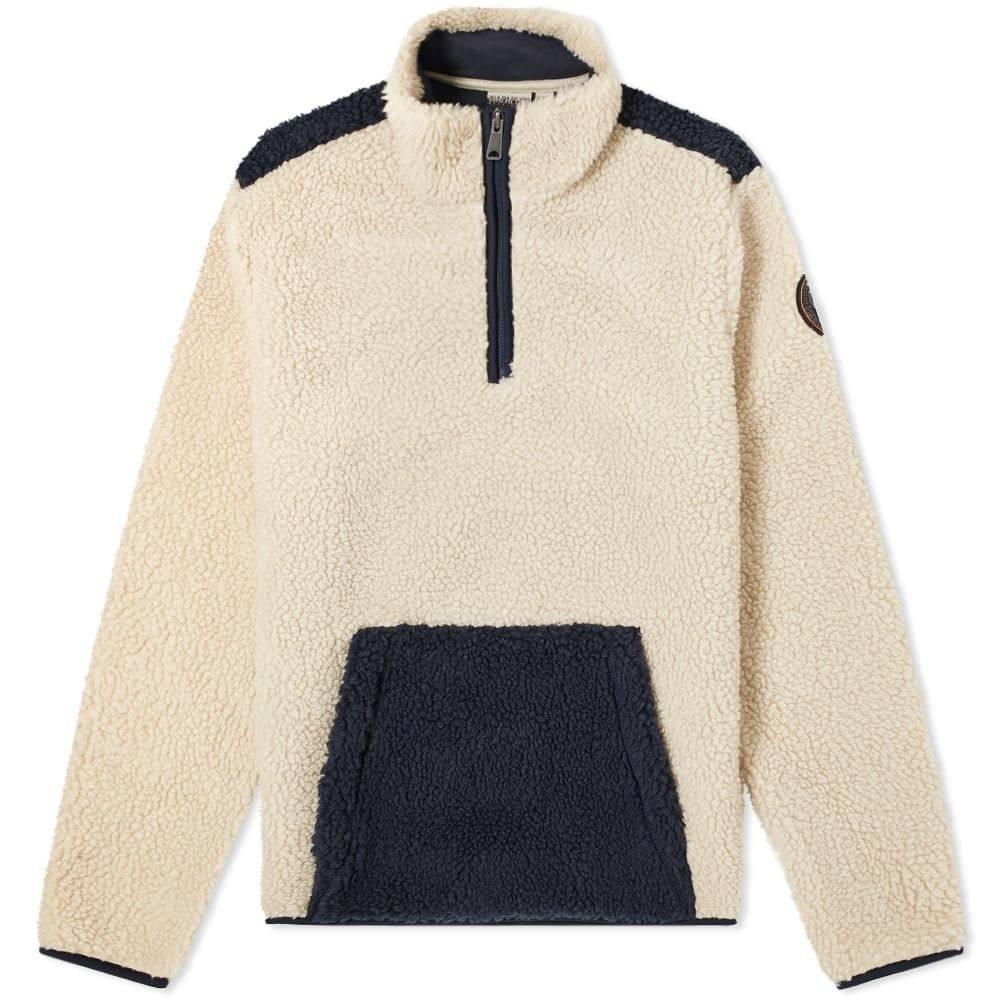 ナパピリ Napapijri メンズ フリース トップス【teide 2 half zip fleece】Natural/Blue