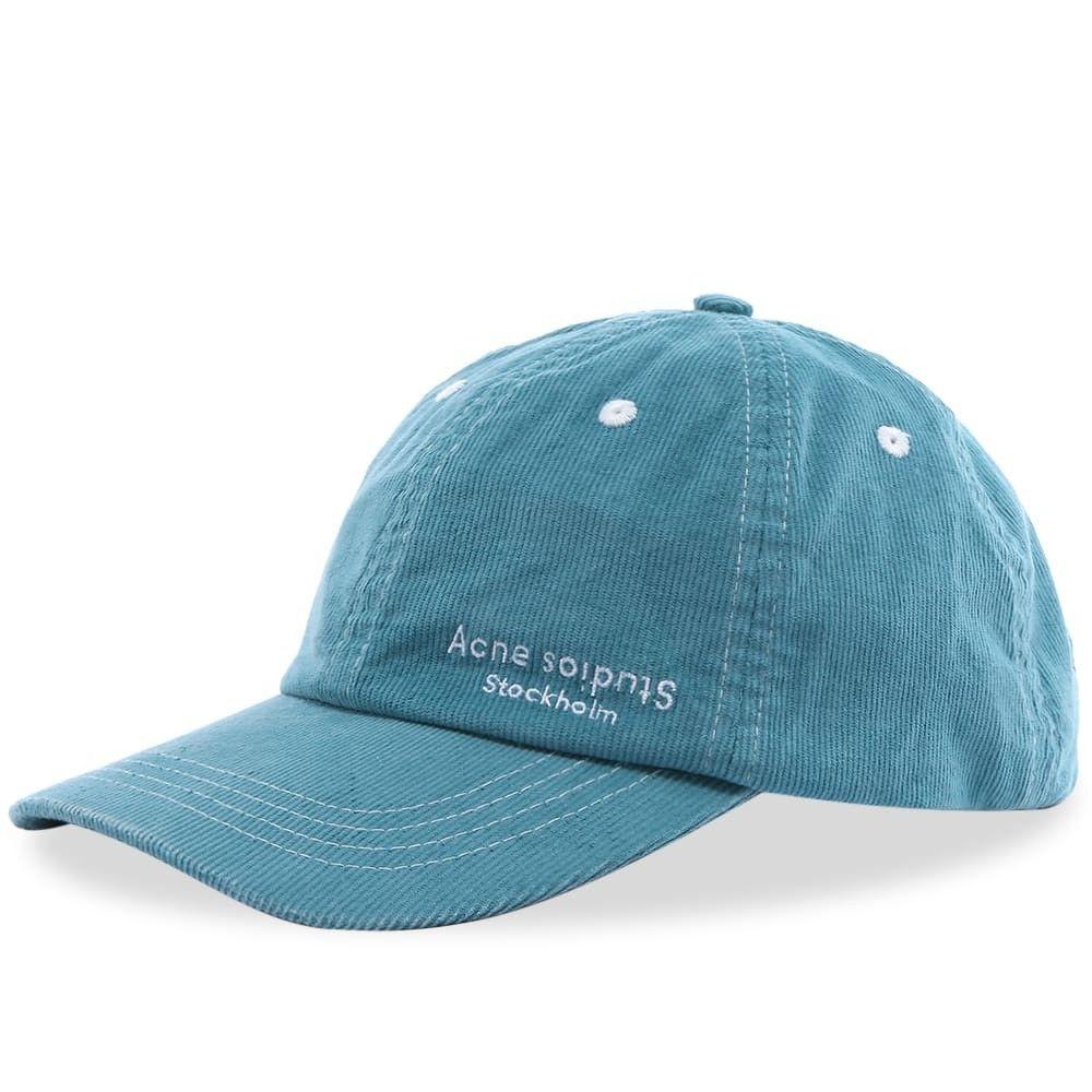 アクネ ストゥディオズ メンズ 帽子 キャップ Turquoise Blue 【サイズ交換無料】 アクネ ストゥディオズ Acne Studios メンズ キャップ 帽子【carliy cord cap】Turquoise Blue