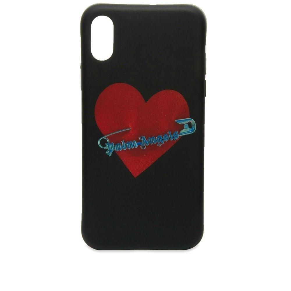 パーム エンジェルス Palm Angels メンズ iPhone (X)ケース 【pin my heart iphone x case】Black