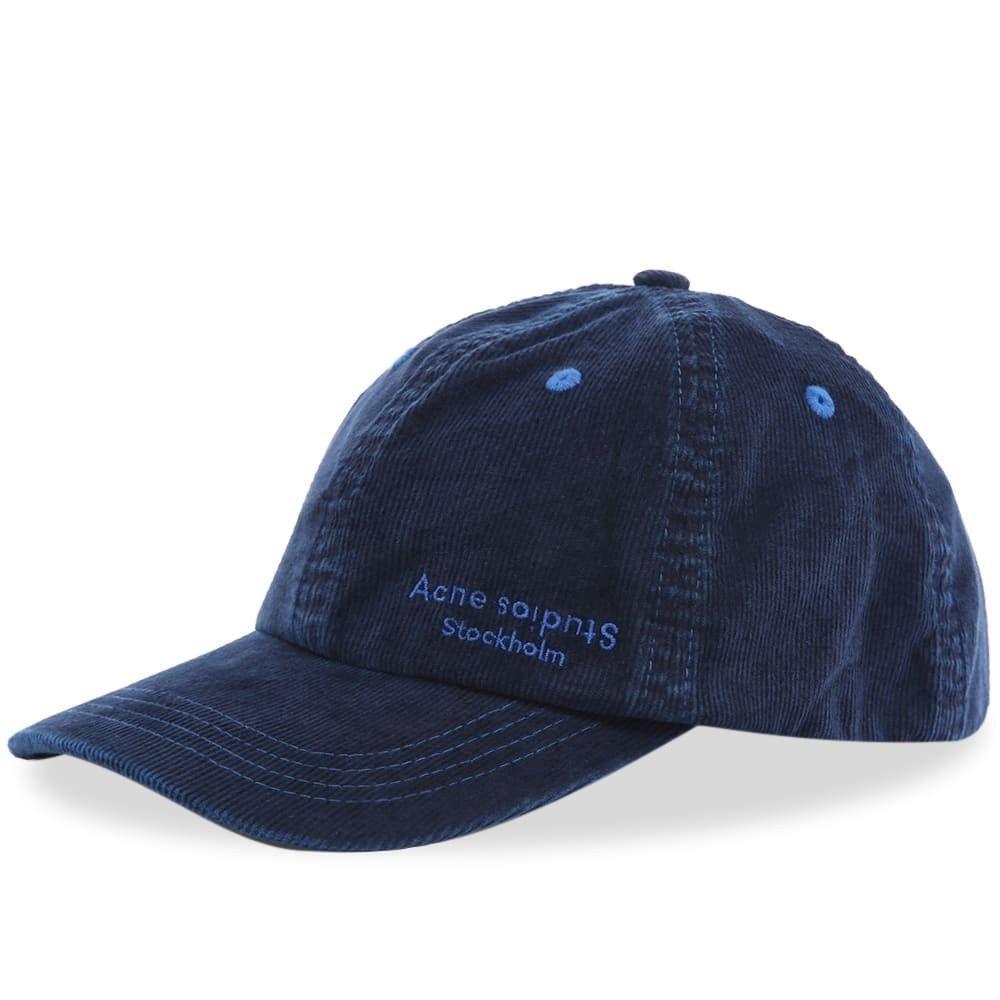 アクネ ストゥディオズ メンズ 帽子 キャップ Dark Blue 【サイズ交換無料】 アクネ ストゥディオズ Acne Studios メンズ キャップ 帽子【carliy cord cap】Dark Blue