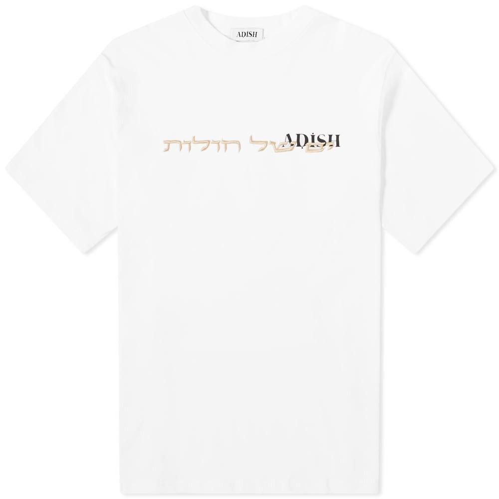 ADISH メンズ Tシャツ トップス【hebrew tee】White