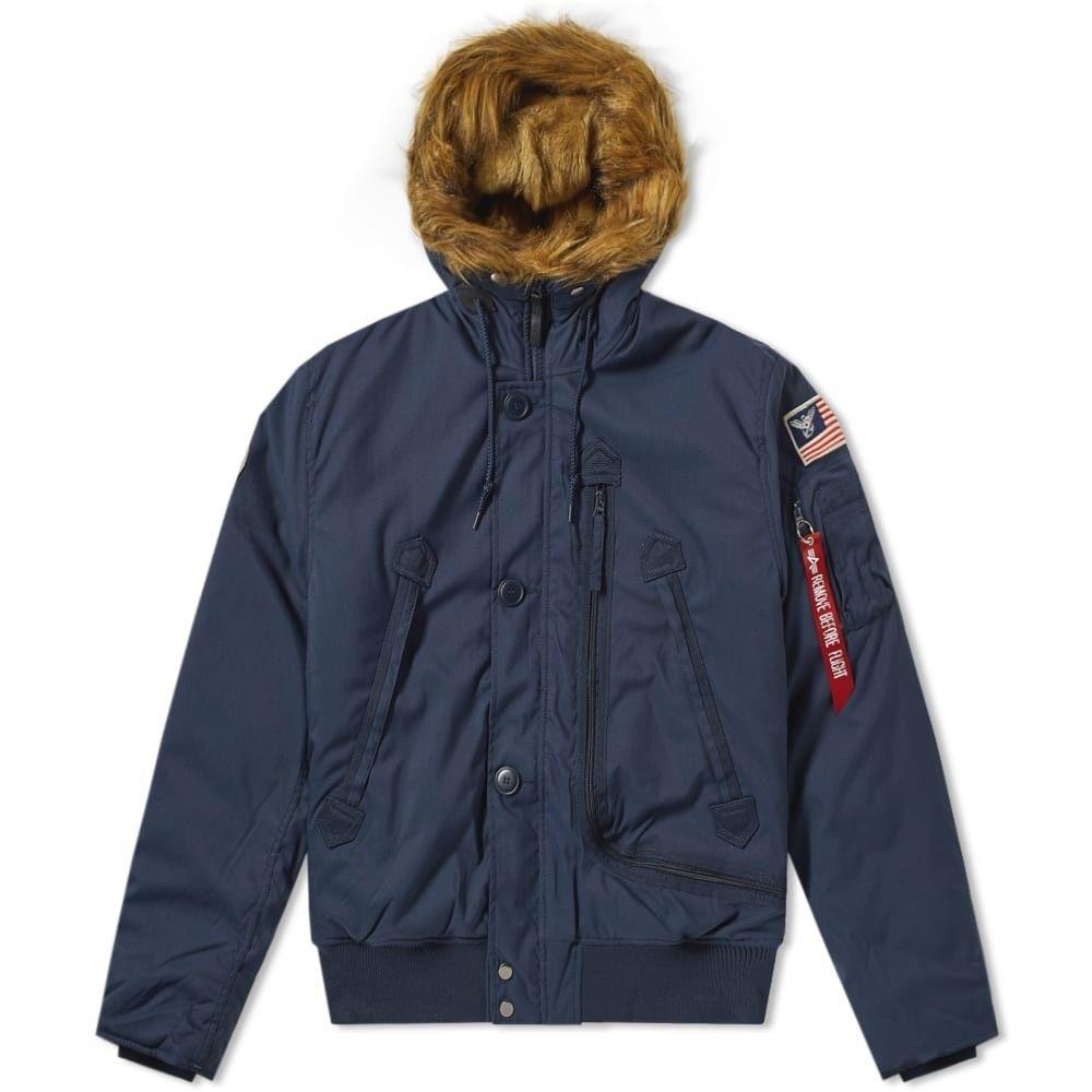 アルファ インダストリーズ Alpha Industries メンズ ブルゾン アウター【ma-1 polar jacket sv】Replica Blue