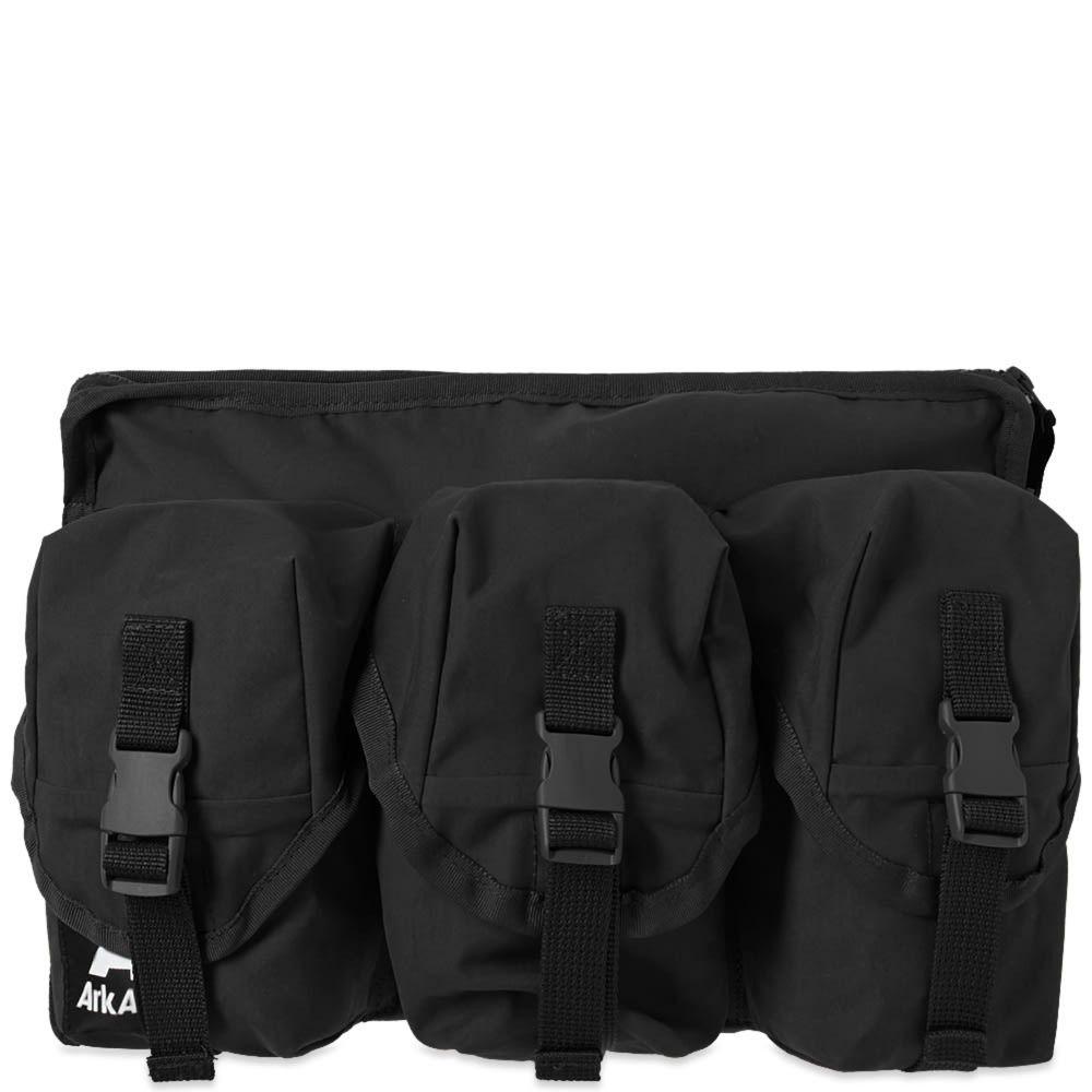 アークエアー Ark Air メンズ ボディバッグ・ウエストポーチ バッグ【3 pocket waist bag】Black