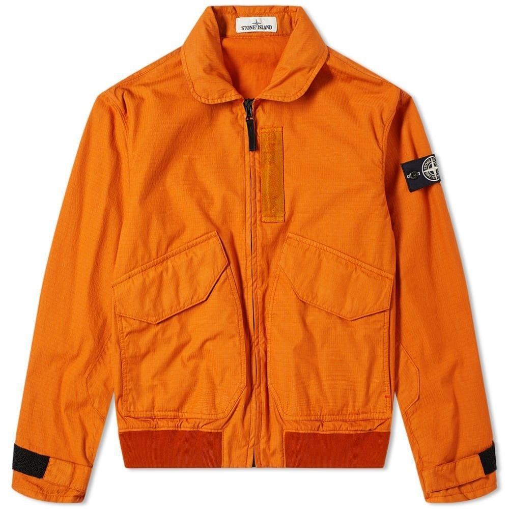 ストーンアイランド Stone Island メンズ ブルゾン ミリタリージャケット アウター【reflective weave zip bomber jacket】Orange