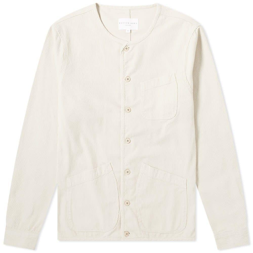 ケスティンエア Kestin Hare メンズ シャツ オーバーシャツ トップス【corduroy neist overshirt】Winter White