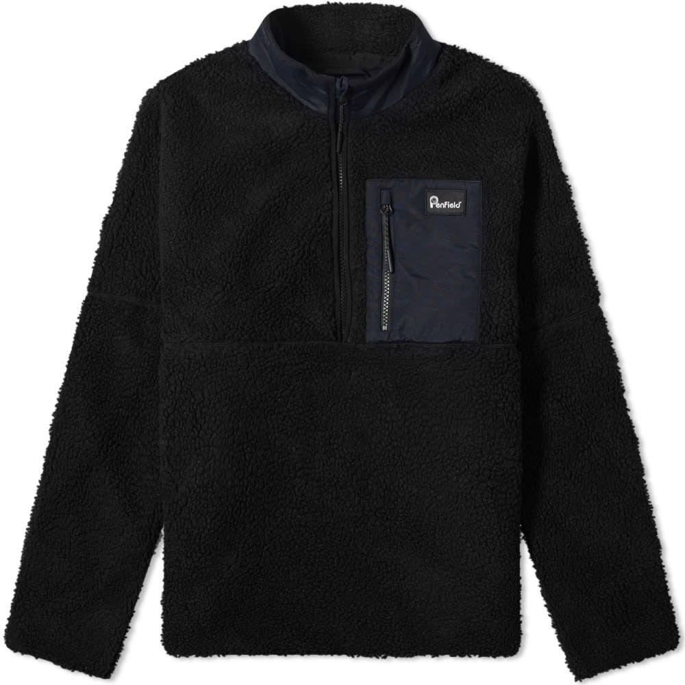 ペンフィールド Penfield メンズ フリース ハーフジップ トップス【medford quarter zip fleece】Black
