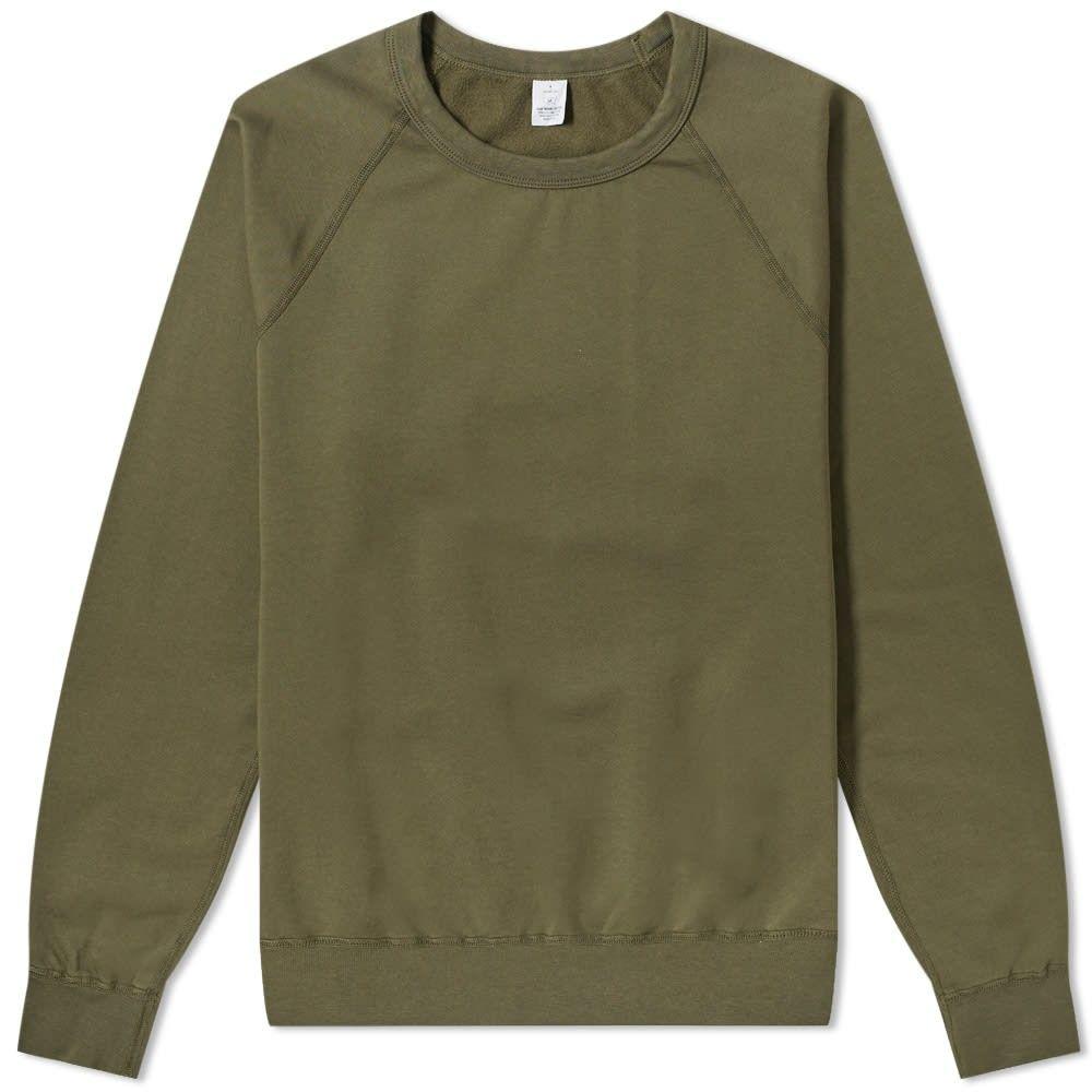 セーブカーキユナイテッド Save Khaki メンズ フリース トップス【supima fleece crew sweat】Olive