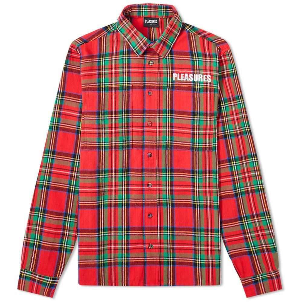 【あす楽対応】 プレジャーズ PLEASURES メンズ ジャケット メンズ ジャケット オーバーシャツ overshirt】Red アウター【lawless overshirt】Red:フェルマート, 中札内村:b8c50bc0 --- nagari.or.id