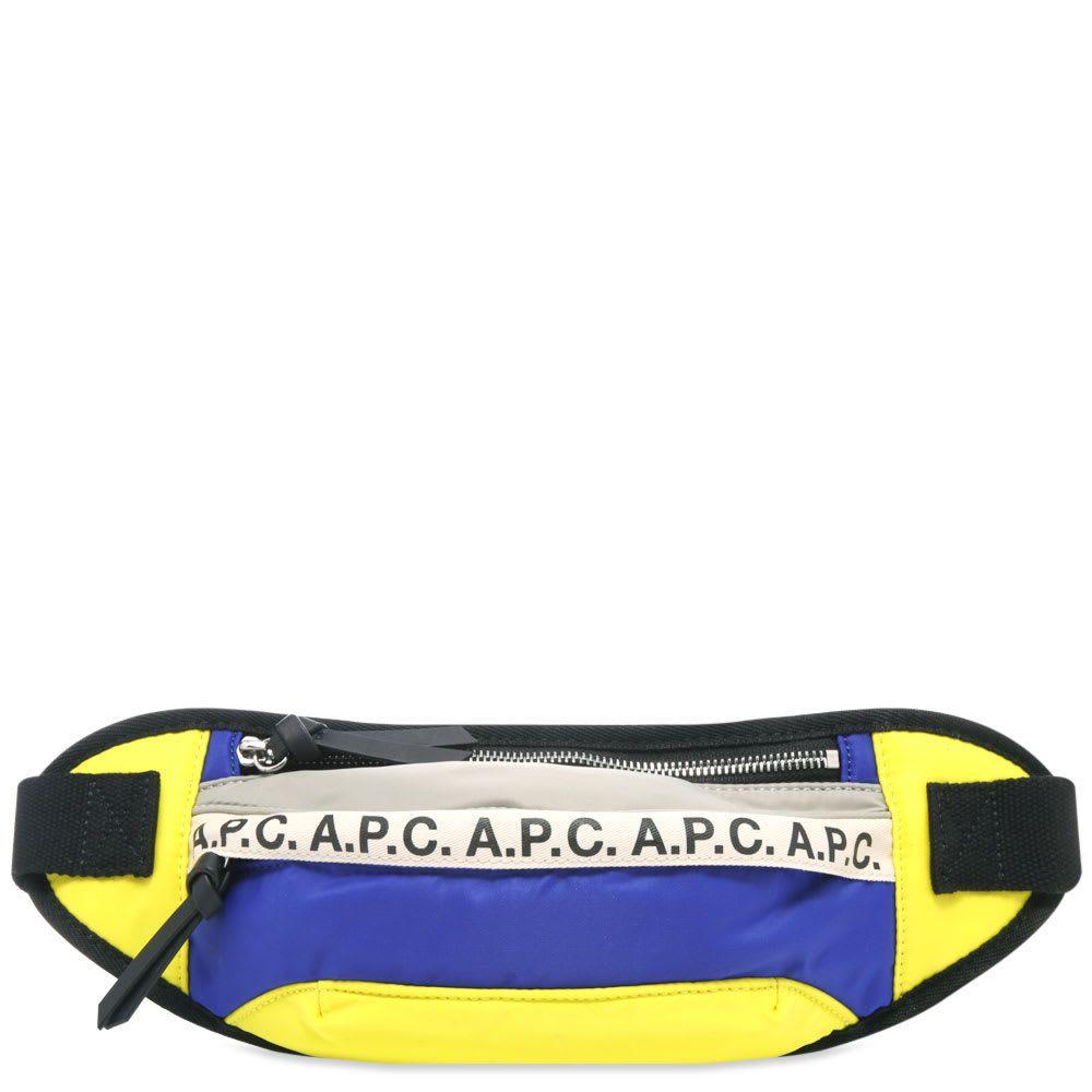 アーペーセー A.P.C. メンズ ボディバッグ・ウエストポーチ バッグ【tape logo waist bag】Royal Blue