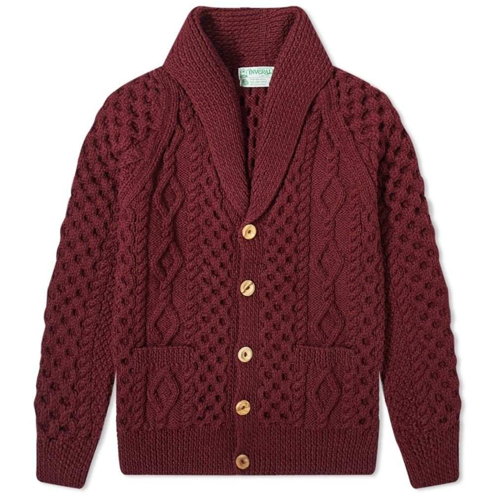 インバーアラン Inverallan メンズ カーディガン トップス【6a shawl cardigan】Wine