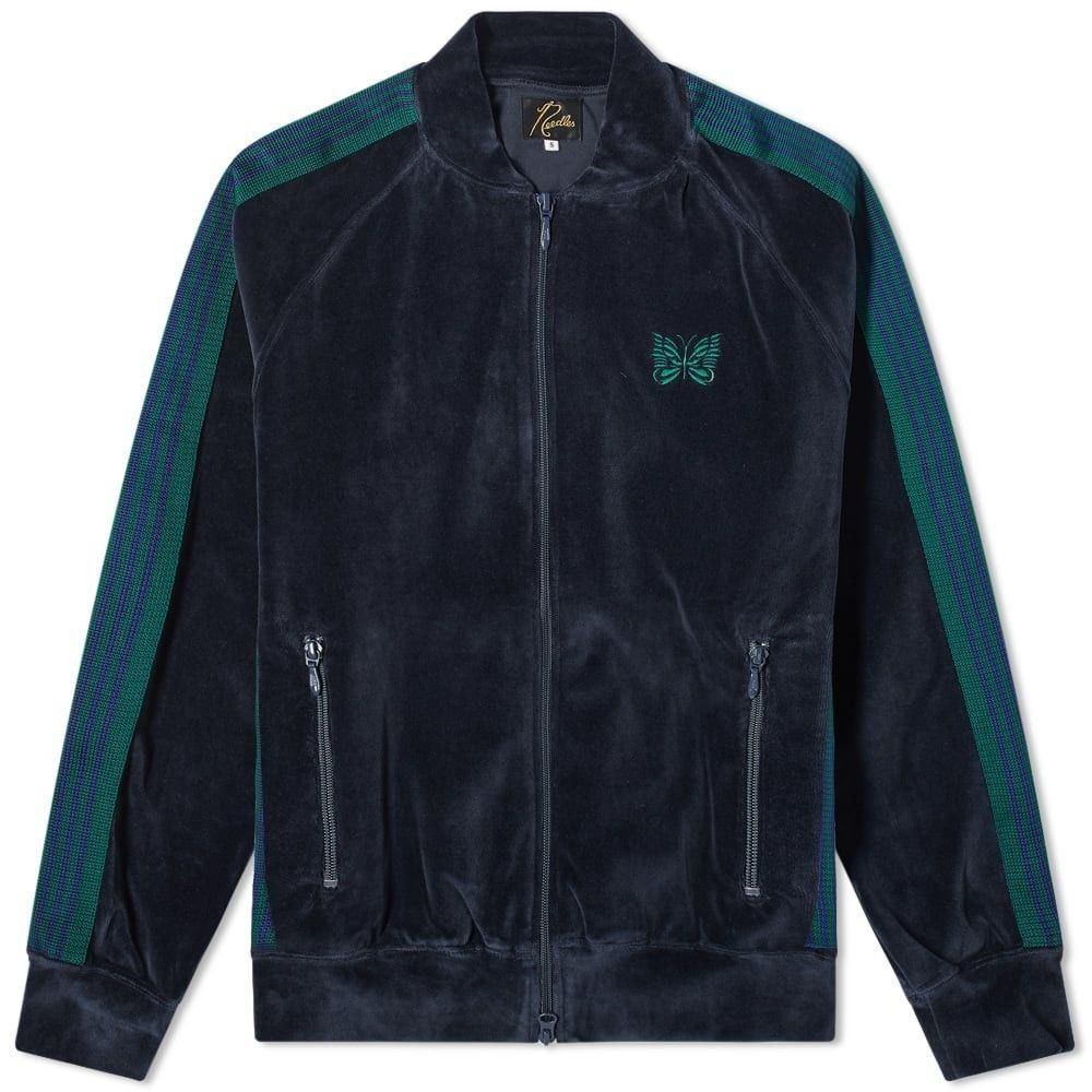 ニードルズ Needles メンズ ジャージ アウター【rib collar velour track jacket】Navy