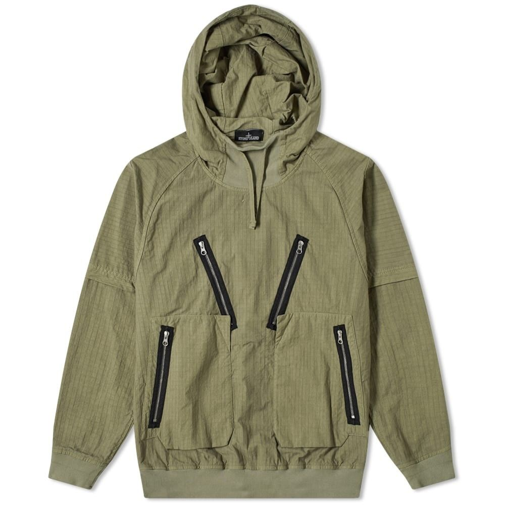 ストーンアイランド Stone Island Shadow Project メンズ ジャケット アウター【naslan ripstop popover hooded jacket】Military Green