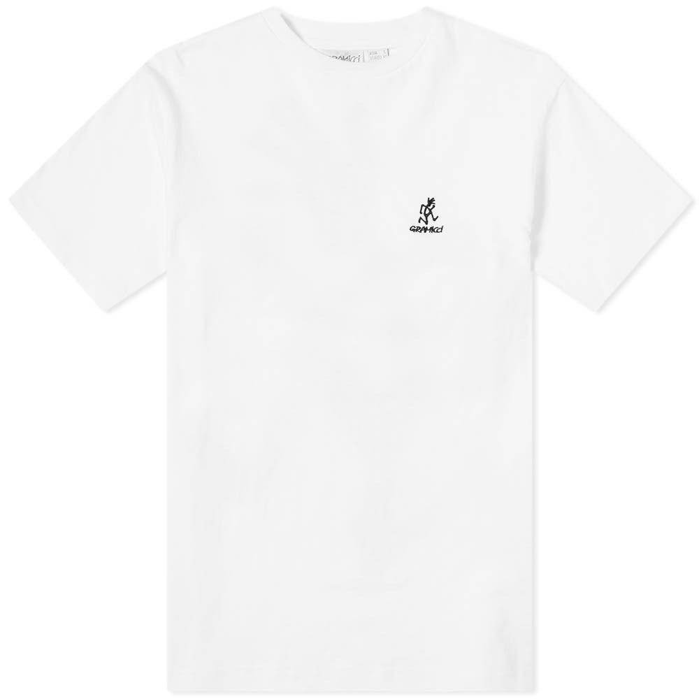 グラミチ Gramicci メンズ ランニング・ウォーキング Tシャツ トップス【big running man tee】White