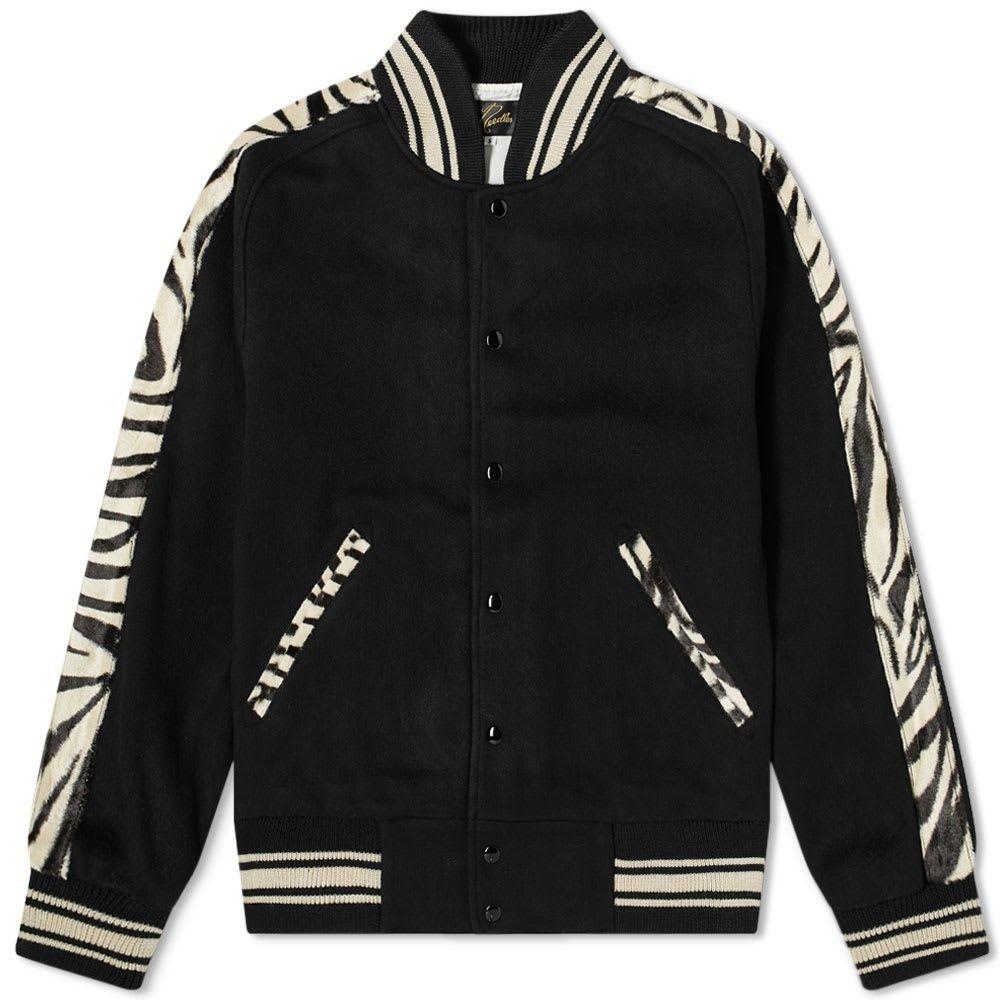 ニードルズ Needles メンズ ブルゾン アウター【animal print varsity jacket】Black