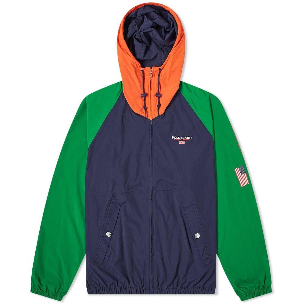 ポロスポーツ Polo Sport メンズ ジャケット ウィンドブレーカー アウター【polo ralph lauren zip hooded windbreaker】Navy/Green/Bittersweet