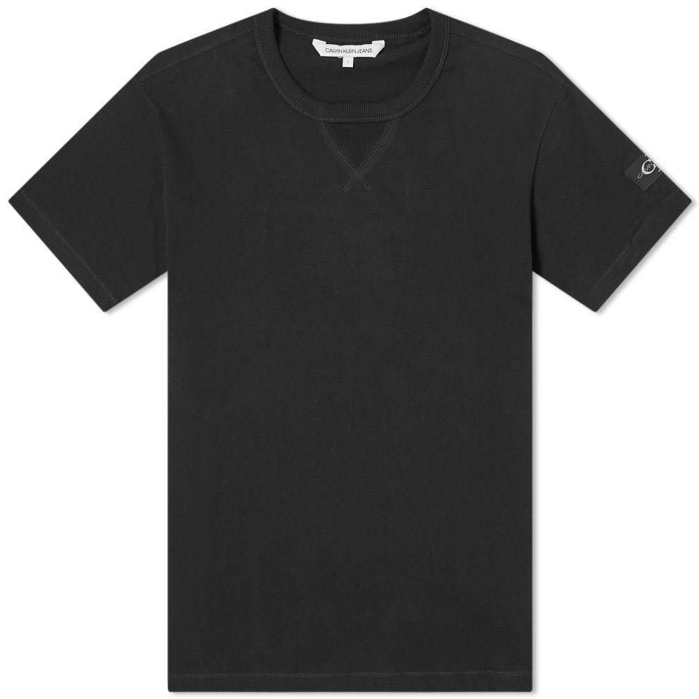 カルバンクライン Calvin Klein メンズ Tシャツ トップス【Monogram Sleeve Badge Tee】CK Black