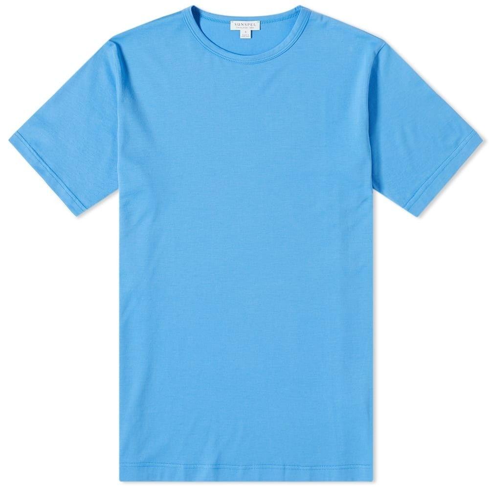 サンスペル Sunspel メンズ Tシャツ トップス【Classic Crew Neck Tee】Azure Blue