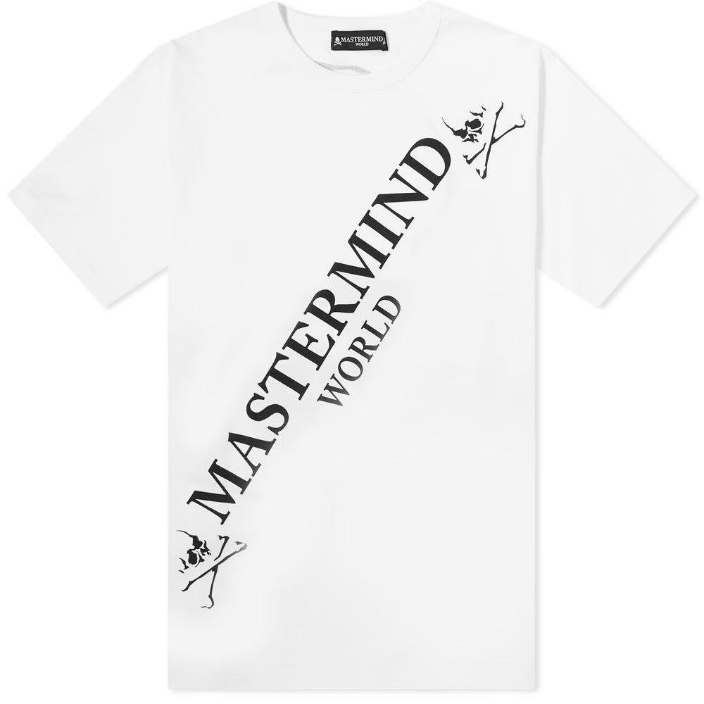 マスターマインド MASTERMIND WORLD メンズ Tシャツ ロゴTシャツ トップス【Big Logo Tee】White