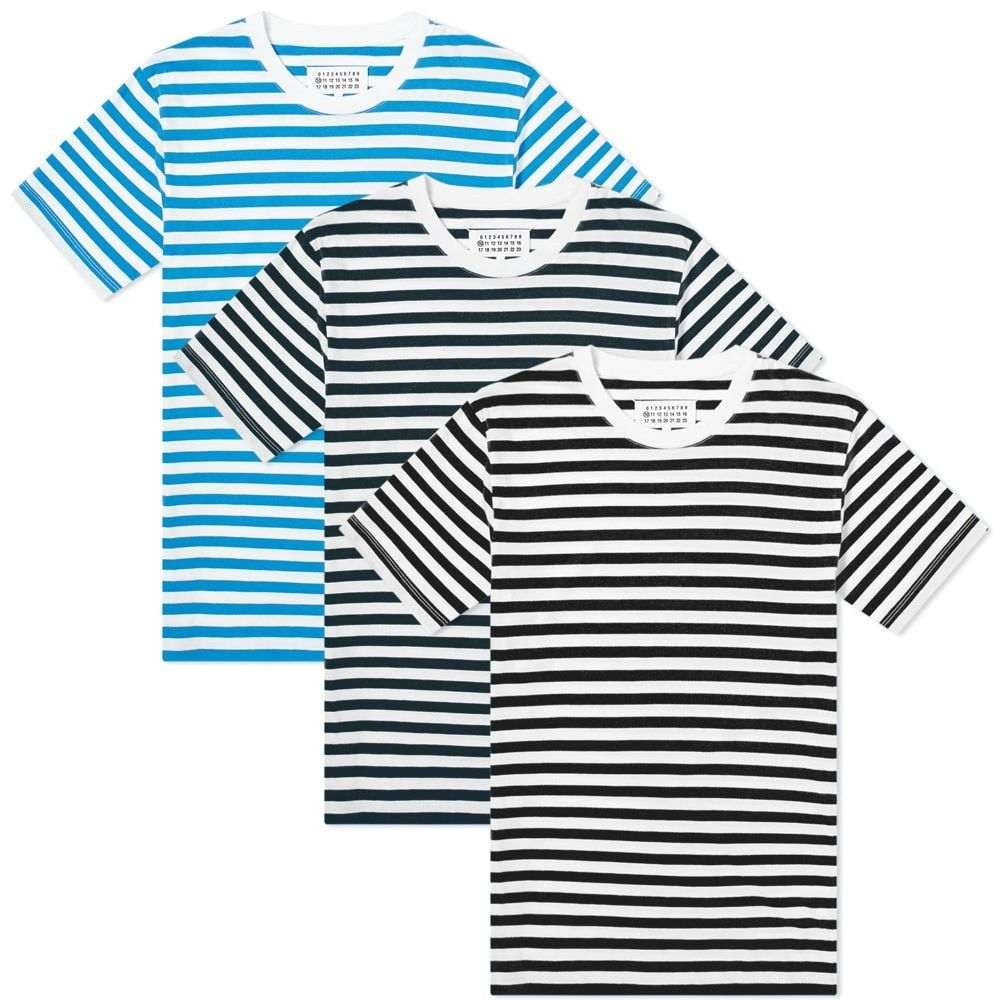 メゾン マルジェラ Maison Margiela メンズ Tシャツ 3点セット トップス【10 Classic Tee - 3 Pack】White/Black/Palace