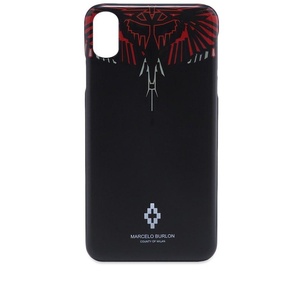マルセロバーロン Marcelo Burlon メンズ iPhone (X)ケース 【Geometric Wings iPhone X Case】Black