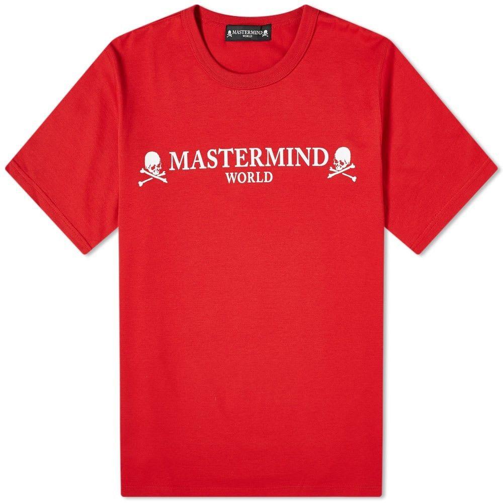 マスターマインド MASTERMIND WORLD メンズ Tシャツ トップス【Printed Skull Tee】Red