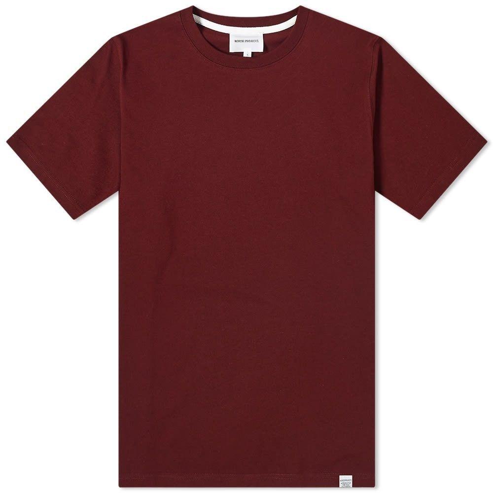 ノースプロジェクト Norse Projects メンズ Tシャツ トップス【Niels Standard Tee】Mulberry Red