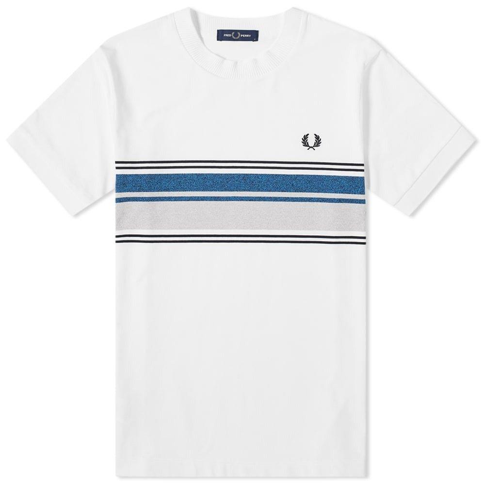 フレッドペリー Fred Perry Authentic メンズ Tシャツ トップス【Fred Perry Marl Stripe Tee】White