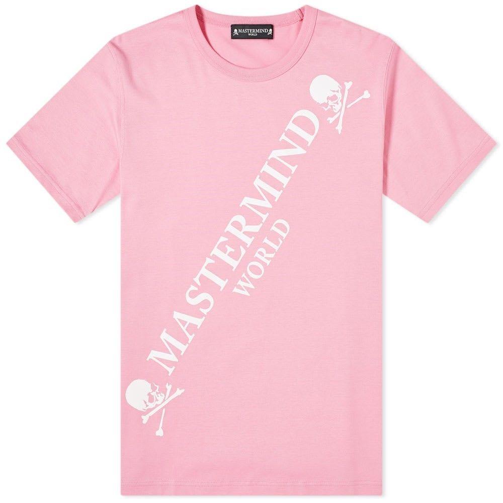 マスターマインド MASTERMIND WORLD メンズ Tシャツ ロゴTシャツ トップス【Big Logo Tee】Pink