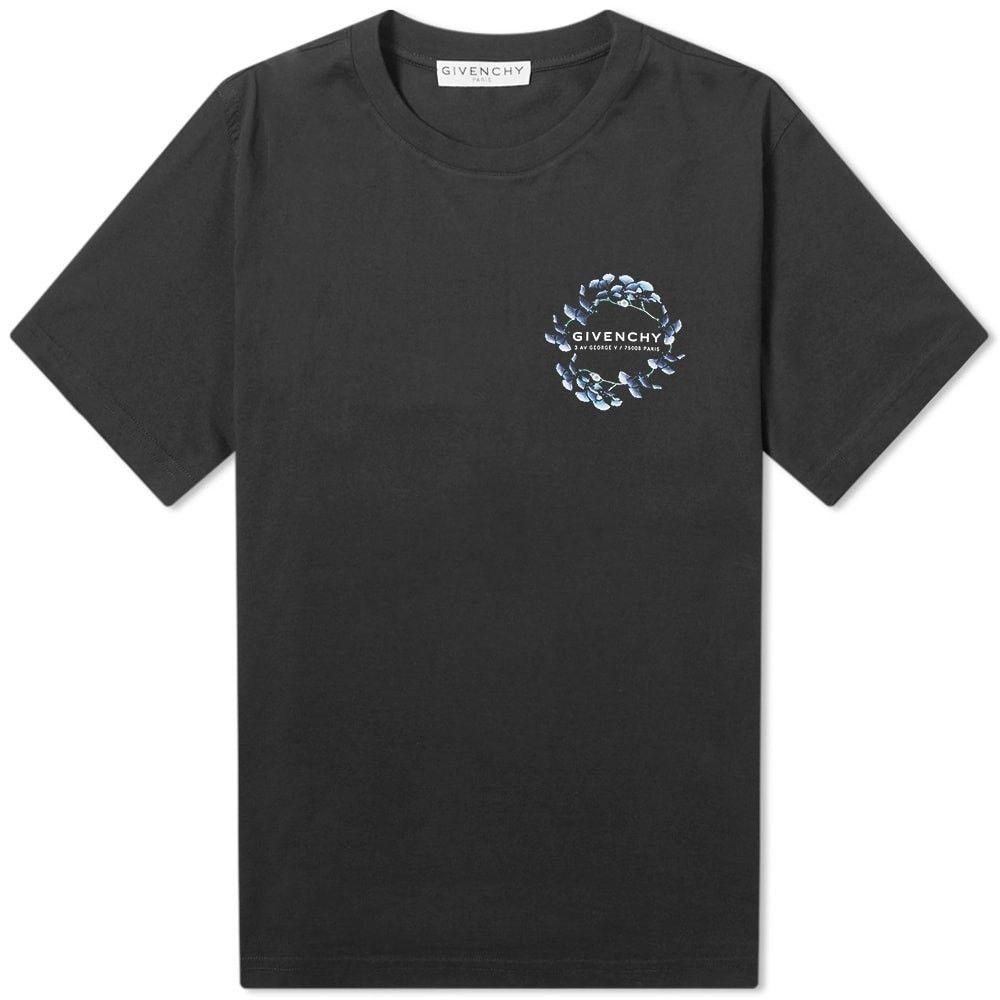 ジバンシー Givenchy メンズ Tシャツ ロゴTシャツ トップス【Small Logo Floral Tee】Black