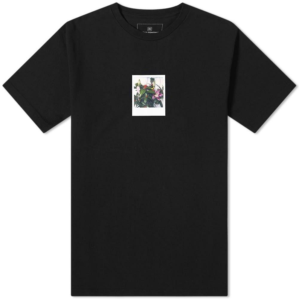 ユニフォームエクスペリメント Uniform Experiment メンズ Tシャツ トップス【x Araki Polaroid C Tee】Black