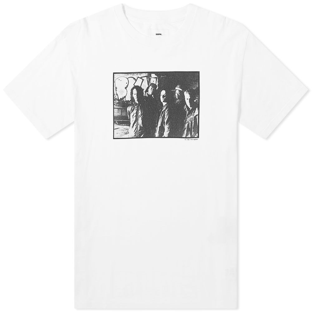 ソフネット SOPHNET. メンズ Tシャツ トップス【SOPH. x Wild Bunch Photo No.1 Tee】White