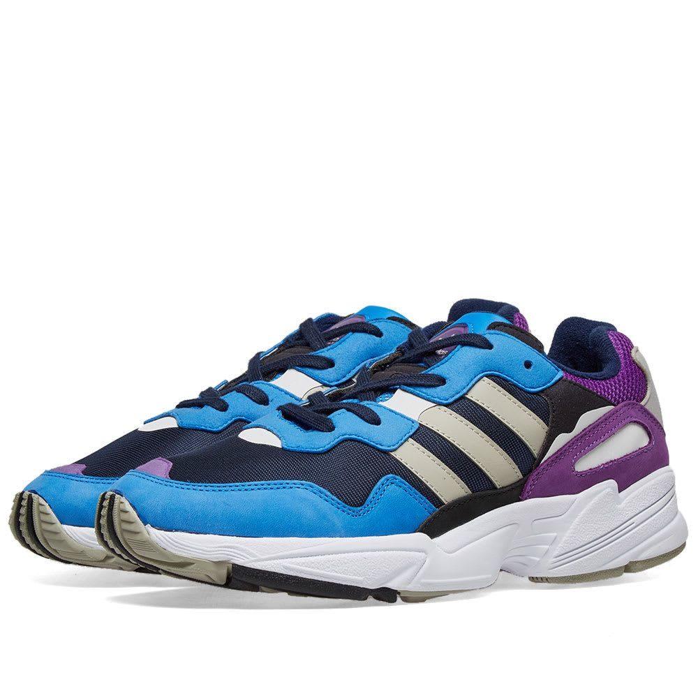アディダス Adidas メンズ スニーカー シューズ・靴【yung 96】Collegiate Navy/Sesame/Blue