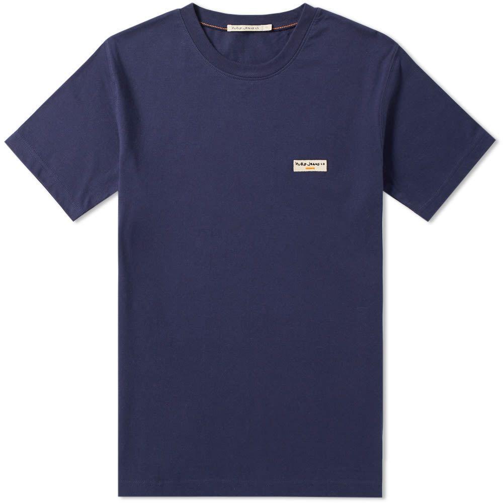 ヌーディージーンズ Nudie Jeans Co メンズ Tシャツ ロゴTシャツ トップス【Nudie Daniel Logo Tee】Midnight