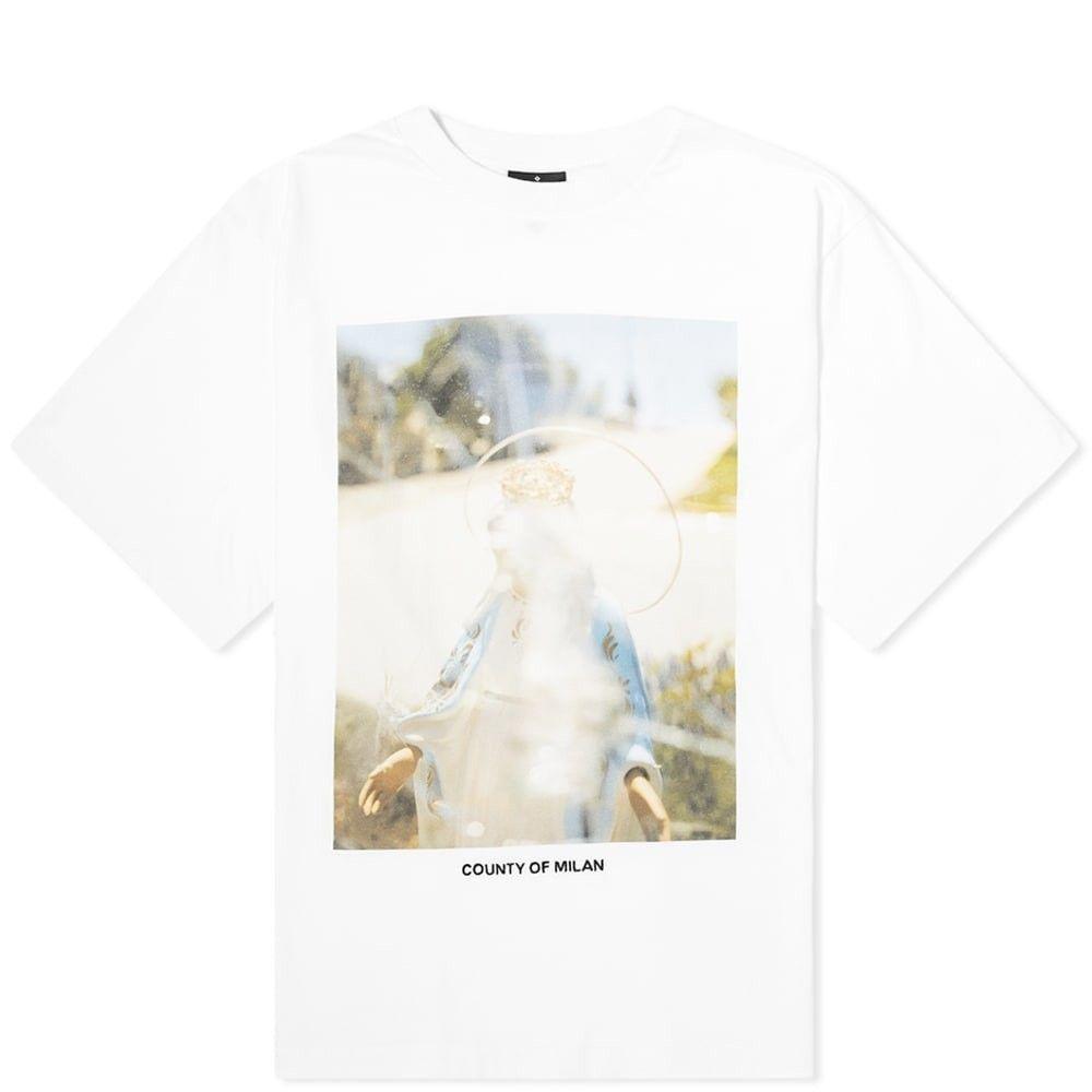 マルセロバーロン Marcelo Burlon メンズ Tシャツ トップス【Holy Oversized Tee】White