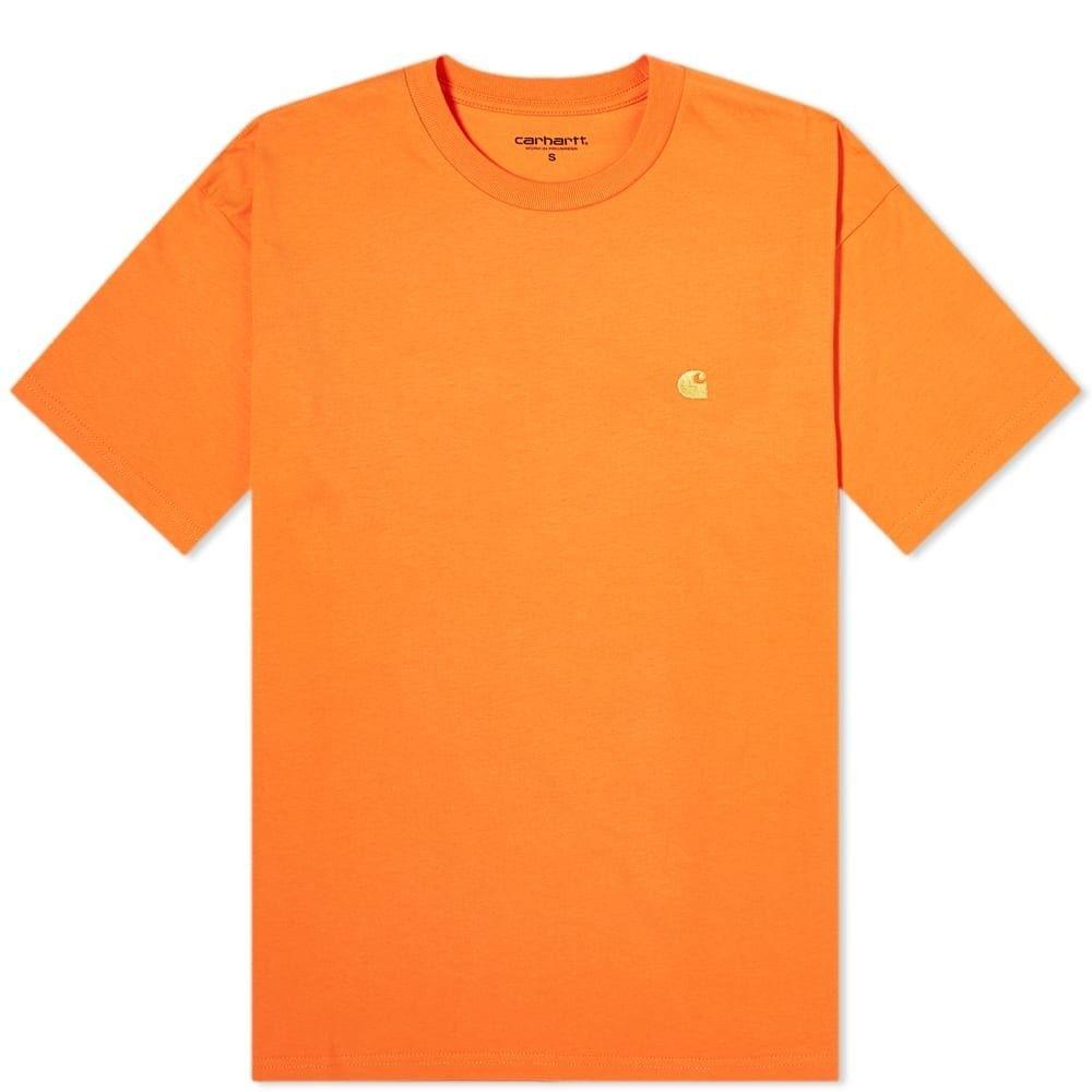 カーハート Carhartt WIP メンズ Tシャツ トップス【Chase Tee】Clockwork/Gold