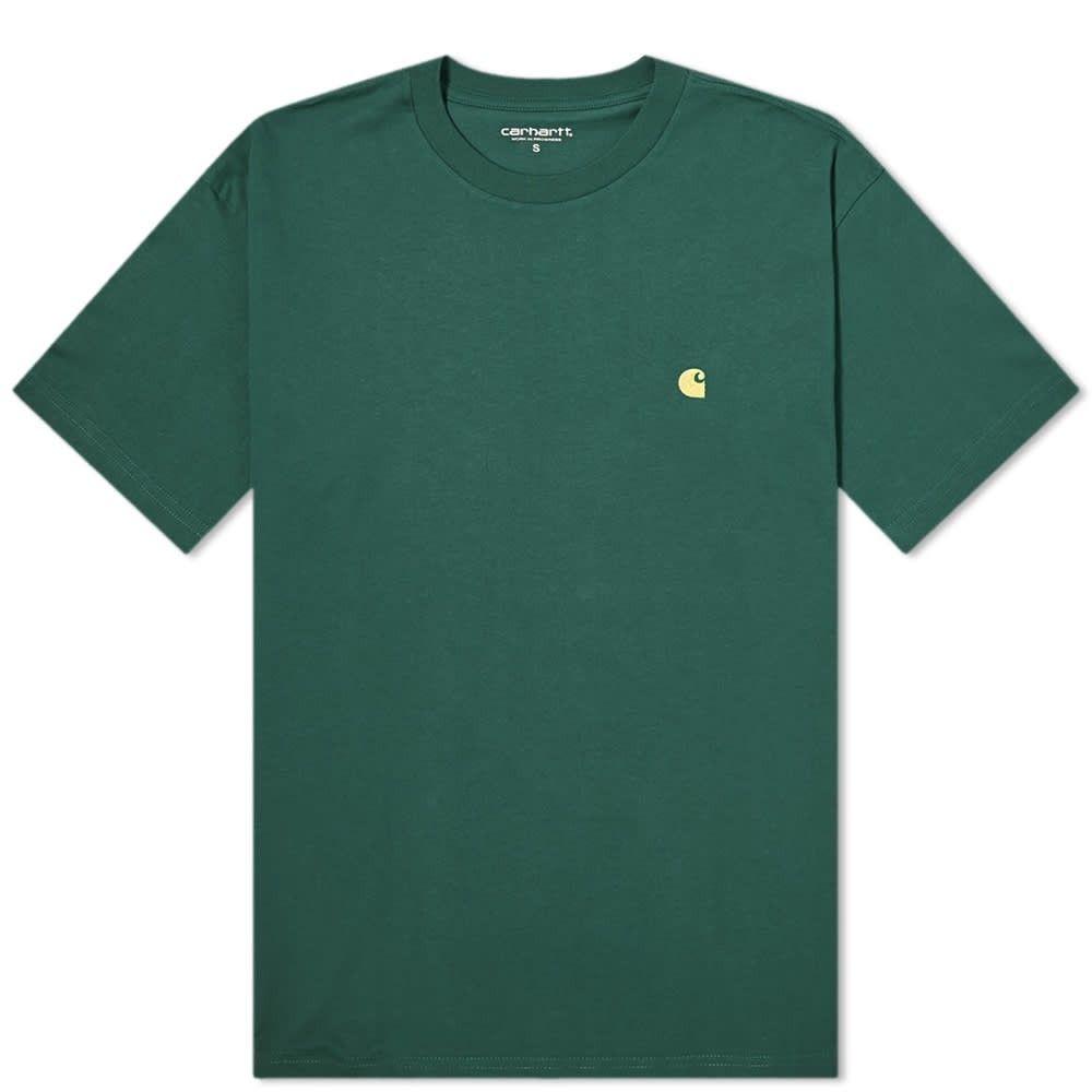 カーハート Carhartt WIP メンズ Tシャツ トップス【Chase Tee】Treehouse/Gold