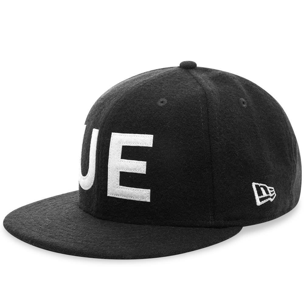 ユニフォームエクスペリメント メンズ 帽子 キャップ Black 【サイズ交換無料】 ユニフォームエクスペリメント Uniform Experiment メンズ キャップ 帽子【New Era Wool Melton 9Fifty UE Cap】Black
