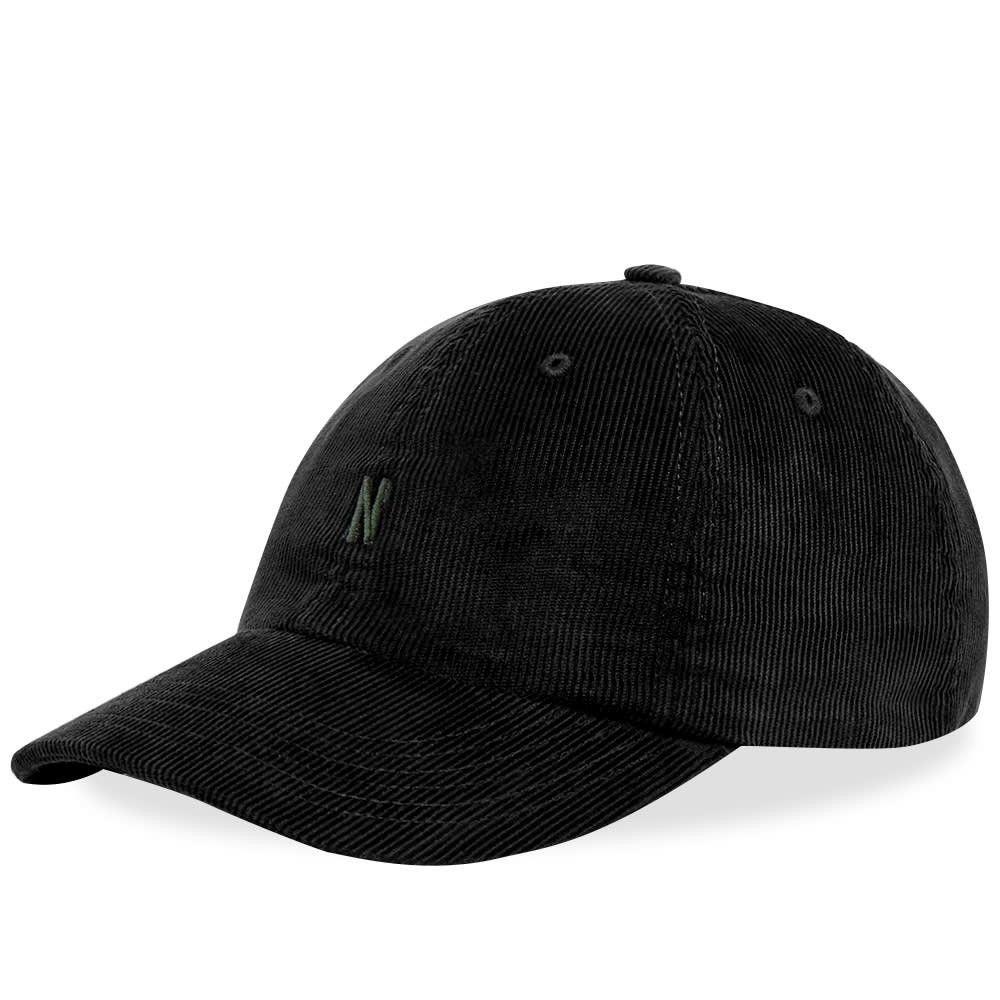 ノースプロジェクト メンズ 帽子 キャップ Boot Black 【サイズ交換無料】 ノースプロジェクト Norse Projects メンズ キャップ 帽子【Thin Cord Sports Cap】Boot Black