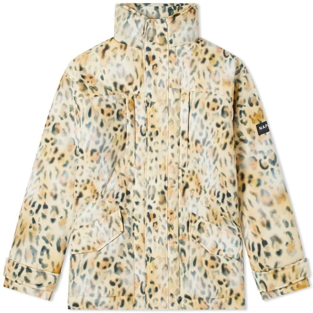 マーティン ローズ Napa by Martine Rose メンズ コート アウター【Leopard Print Parka】Yellow