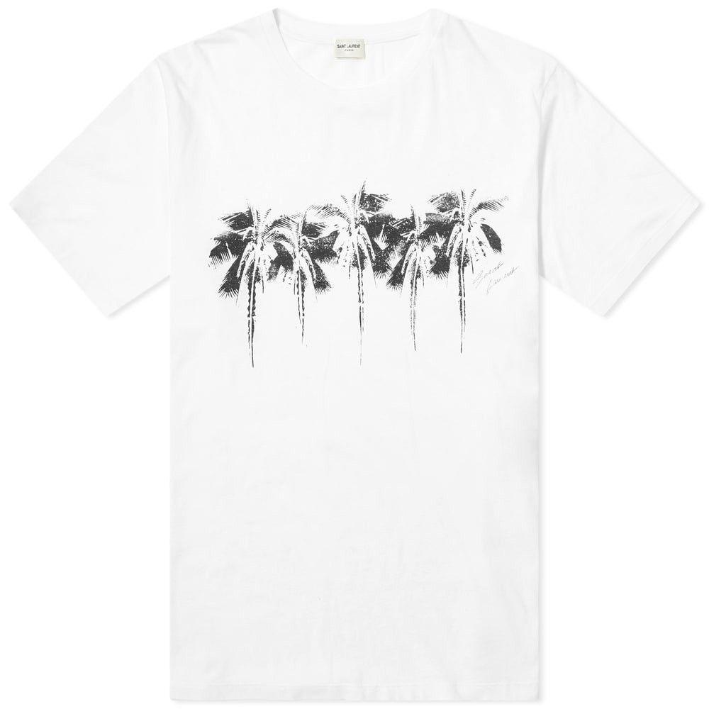 イヴ サンローラン Saint Laurent メンズ Tシャツ トップス【Palm Tree Print Tee】Natural